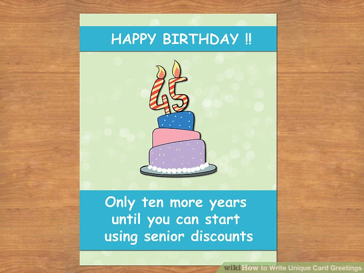 Best ideas about How To Write A Birthday Card . Save or Pin 3 Ways to Write Unique Card Greetings wikiHow Now.