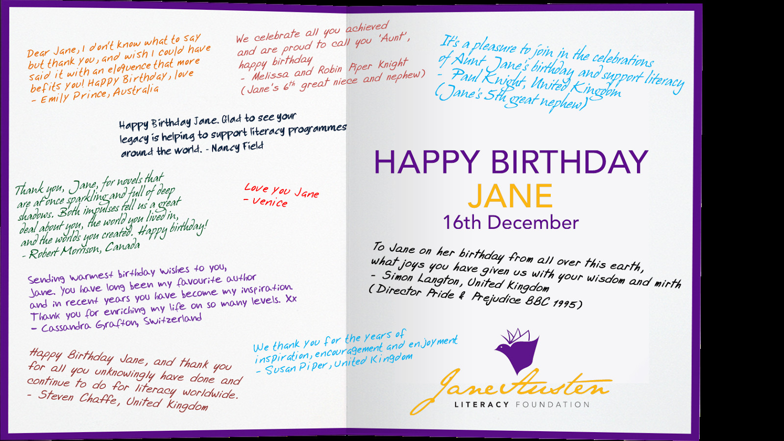 Best ideas about How To Write A Birthday Card . Save or Pin Jane Odiwe Jane Austen Sequels Happy Birthday Jane Austen Now.