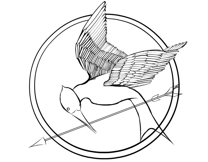 Best ideas about Hunger Games Coloring Sheets For Girls . Save or Pin Hunger Games Mockingjay Coloring Page Bing Now.