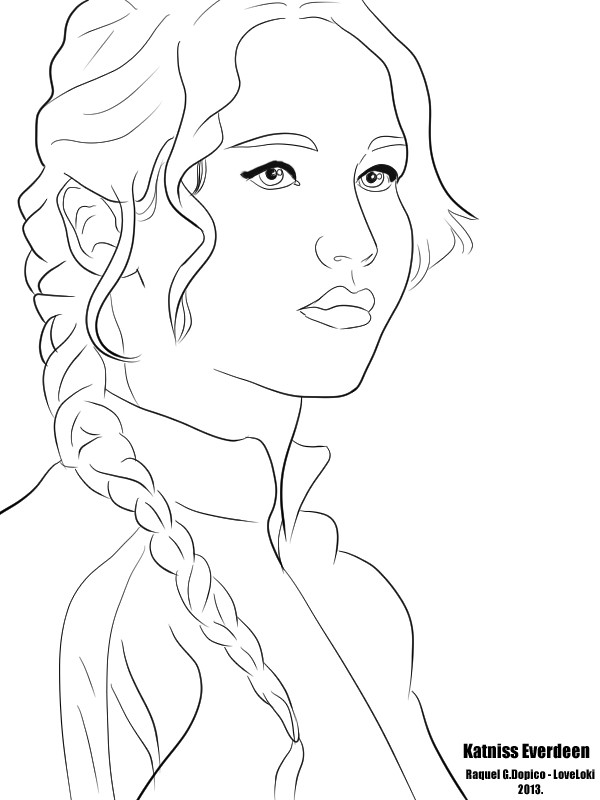 Best ideas about Hunger Games Coloring Sheets For Girls . Save or Pin Katniss Everdeen Coloring Pages Now.