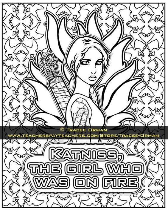 Best ideas about Hunger Games Coloring Sheets For Girls . Save or Pin The Hunger Games Coloring Pages Book Now.