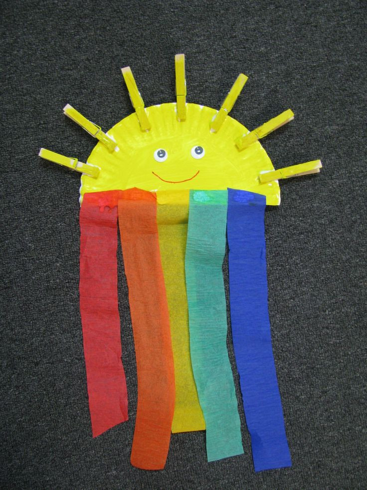 Best ideas about I Crafts For Preschoolers . Save or Pin rainbow craft for preschool Now.