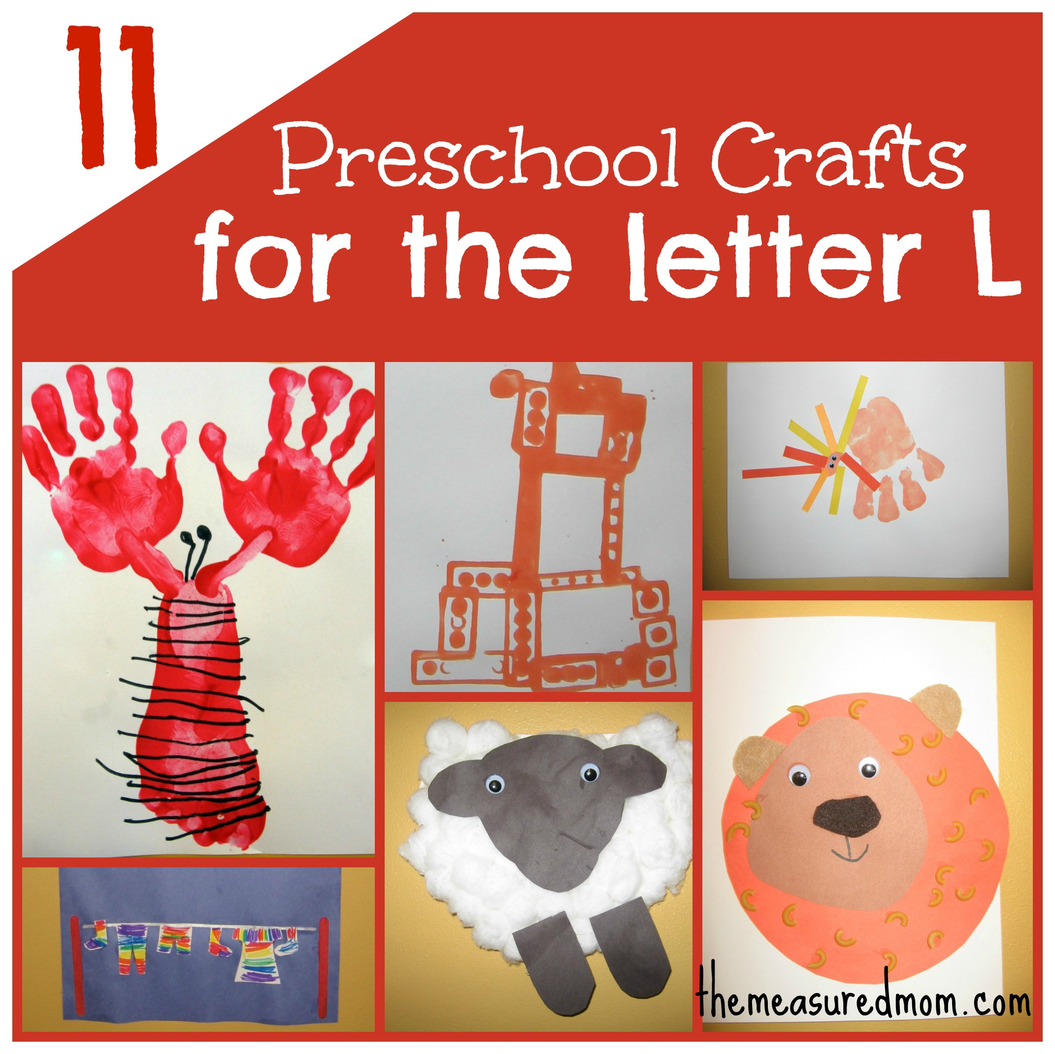 Best ideas about I Crafts For Preschoolers . Save or Pin 11 Crafts for Preschool The Letter L The Measured Mom Now.
