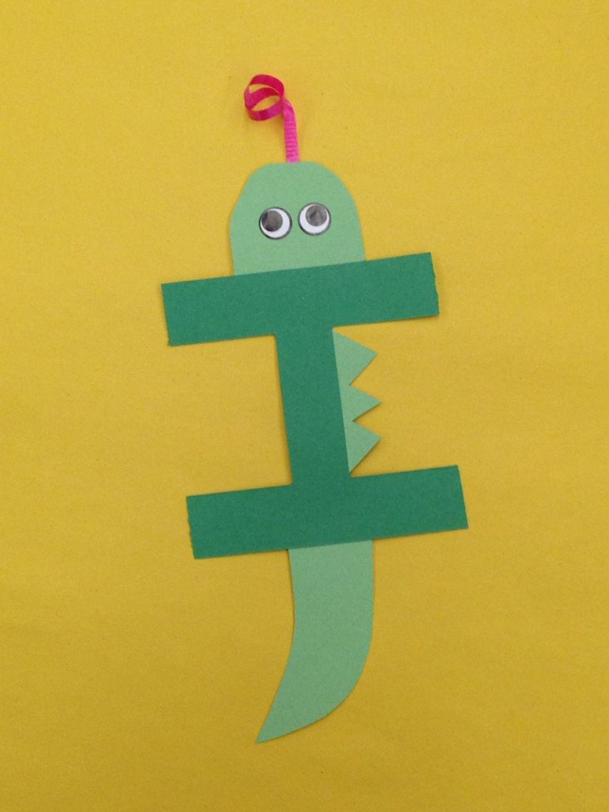 Best ideas about I Crafts For Preschoolers . Save or Pin I is for iguana letter craft Letters Now.