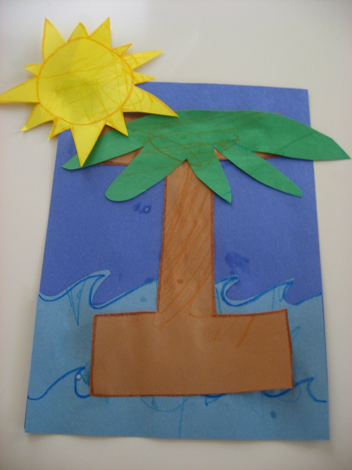 Best ideas about I Crafts For Preschoolers . Save or Pin Letter I preschool craft island Kids crafts Now.