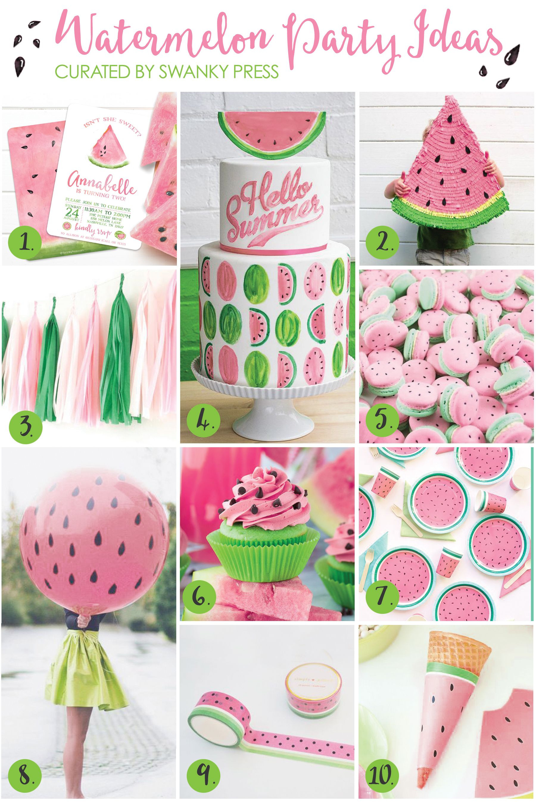 Best ideas about Idea For Kids Birthday Party . Save or Pin Watermelon Party Ideas Watermelon Party Now.