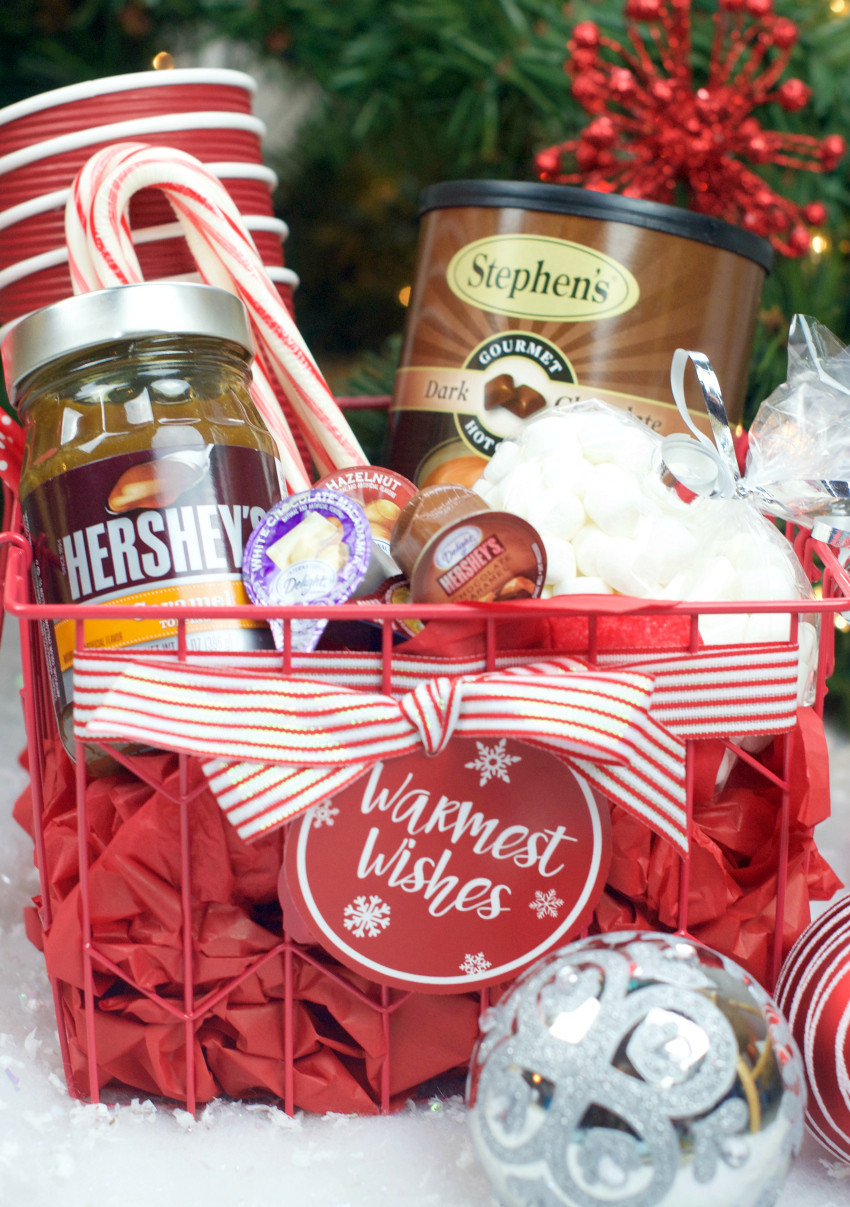 Best ideas about Ideas For Gift Baskets . Save or Pin Hot Chocolate Gift Basket for Christmas – Fun Squared Now.