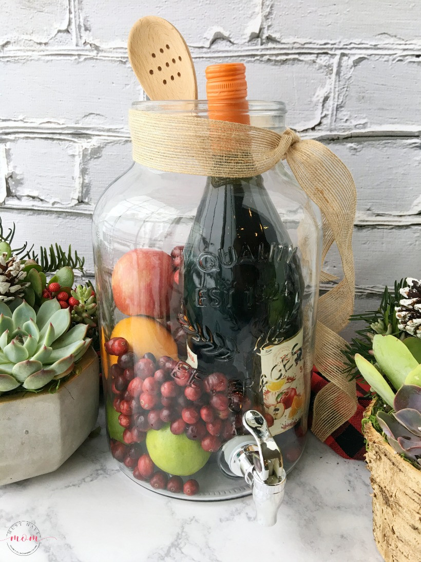 Best ideas about Ideas For Gift Baskets . Save or Pin DIY Sangria & Succulents Gift Basket Ideas Must Have Mom Now.