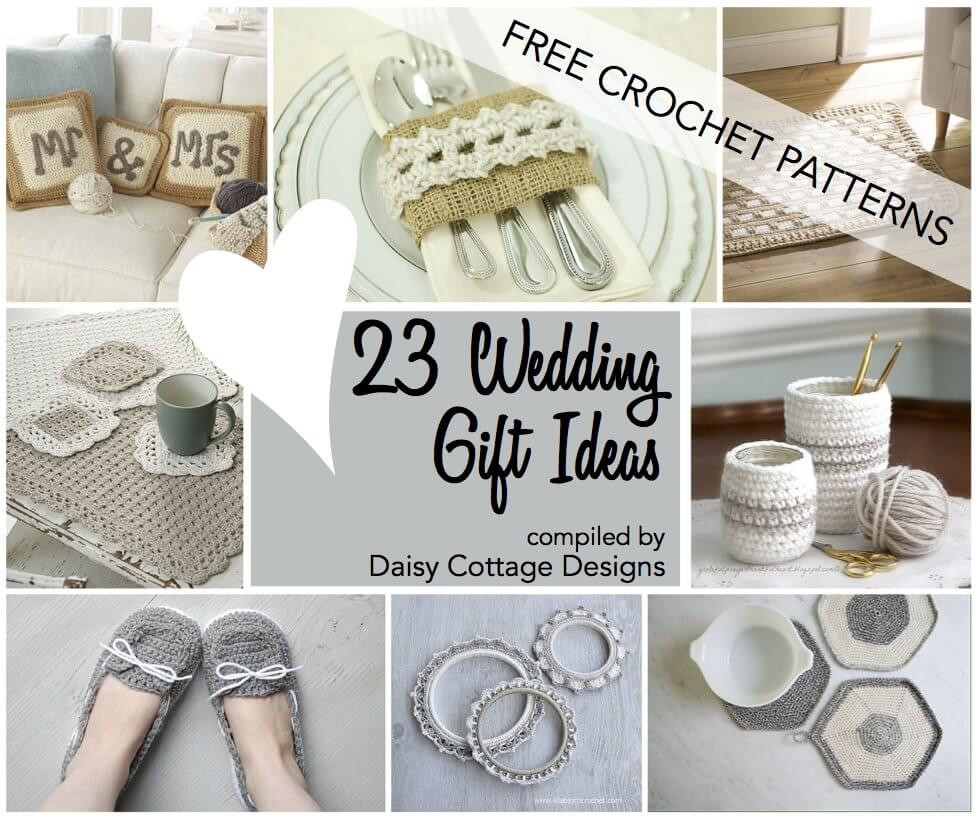 Best ideas about Ideas For Wedding Gift . Save or Pin Wedding Crochet Patterns 23 Free Crochet Patterns Daisy Now.