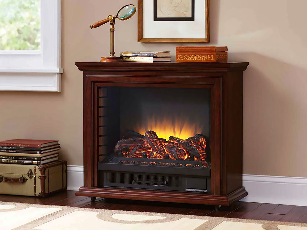 Best ideas about Infrared Fireplace Heater . Save or Pin Sheridan Infrared Rolling Electric Fireplace Cherry Now.