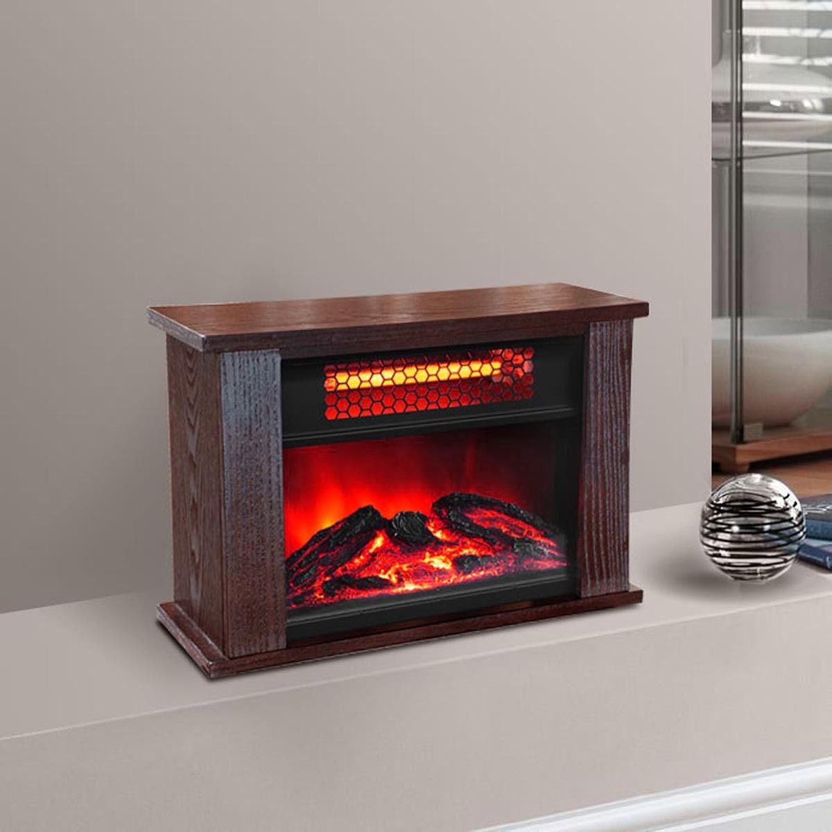 Best ideas about Infrared Fireplace Heater . Save or Pin 750 Watt Infrared Mini Fireplace Heater Now.