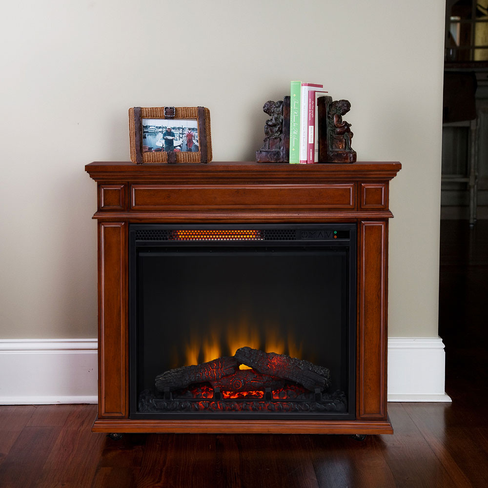 Best ideas about Infrared Fireplace Heater . Save or Pin fort Smart Perri Infrared Rolling Fireplace Mahogany Now.