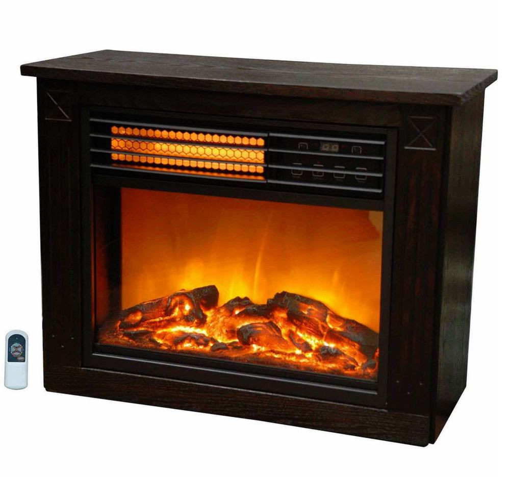 Best ideas about Infrared Fireplace Heater . Save or Pin Lifezone pact Portable Electric Infrared Wood Fireplace Now.