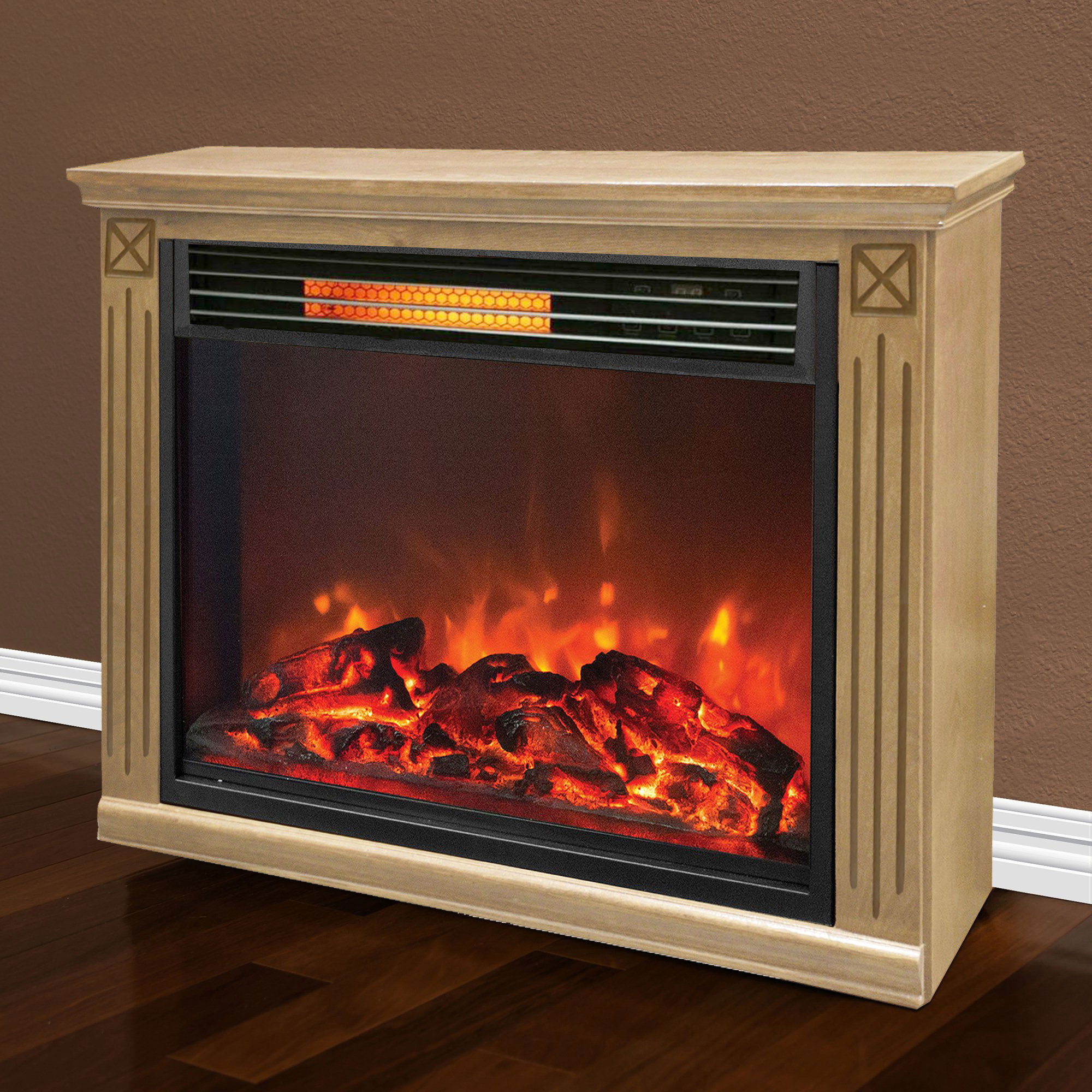 Best ideas about Infrared Fireplace Heater . Save or Pin Lifesmart Big Room Electric Infrared Quartz Fireplace Now.