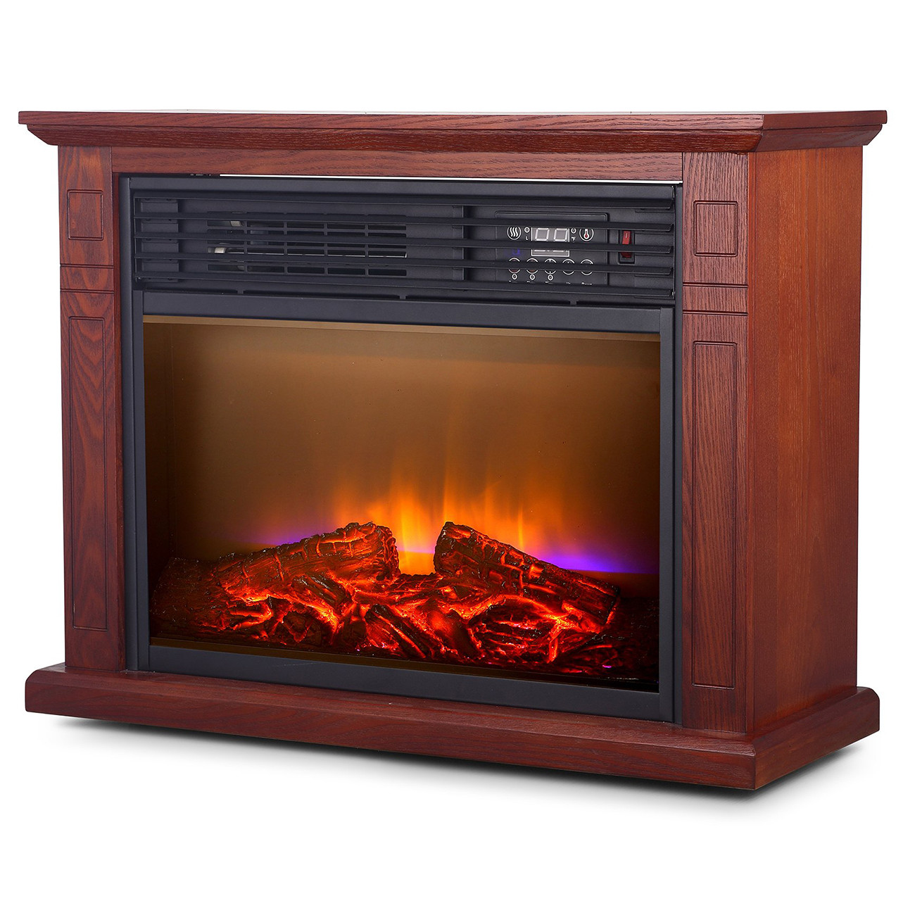 Best ideas about Infrared Fireplace Heater . Save or Pin Room Electric Quartz Infrared Fireplace Heater Now.