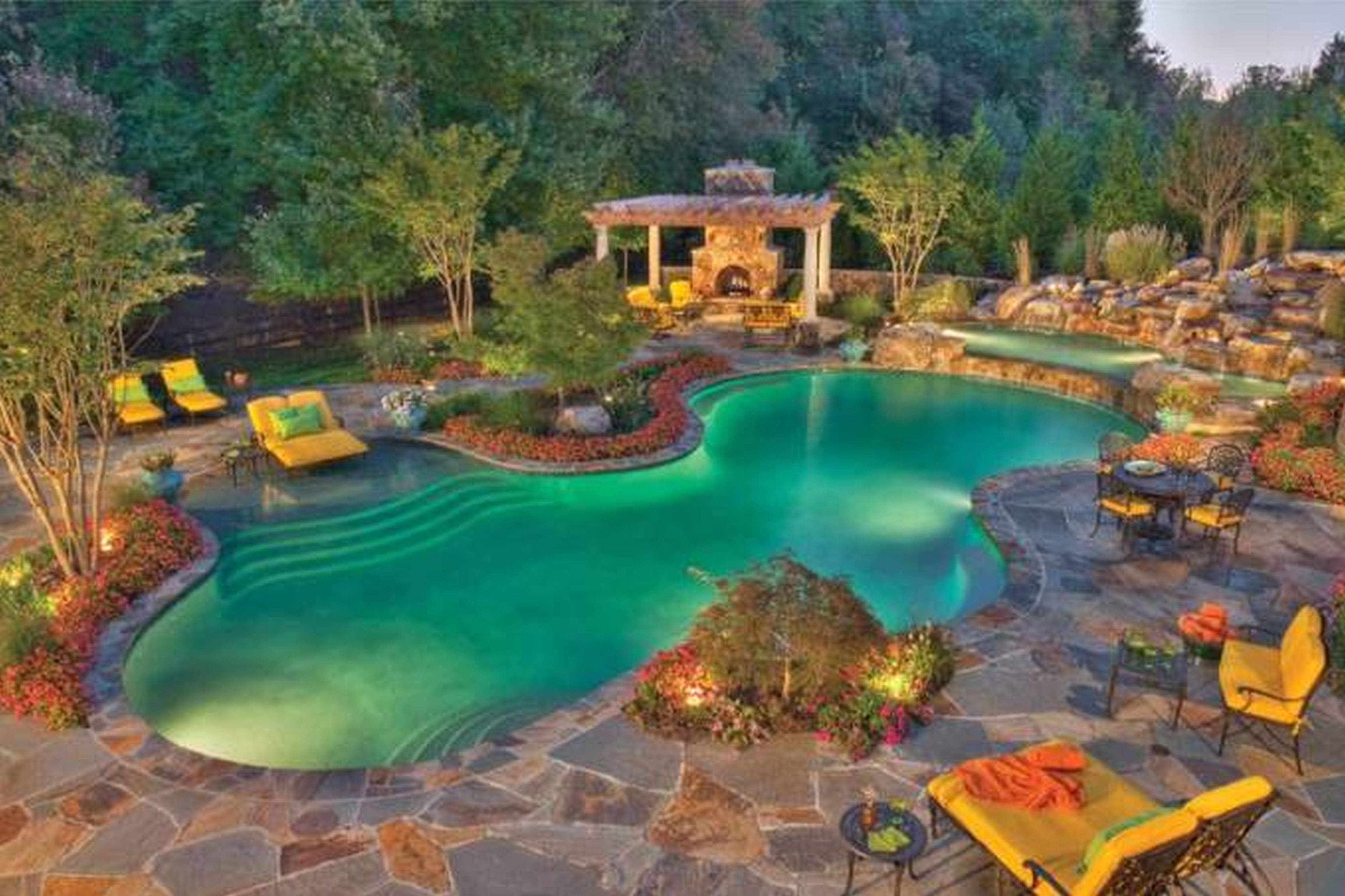 Best ideas about Inground Pool Ideas . Save or Pin Backyard Inground Pool Designs Design Ideas With Picture Now.