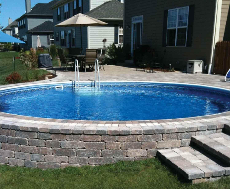 Best ideas about Inground Pool Ideas . Save or Pin Semi Inground Pool Decks Now.