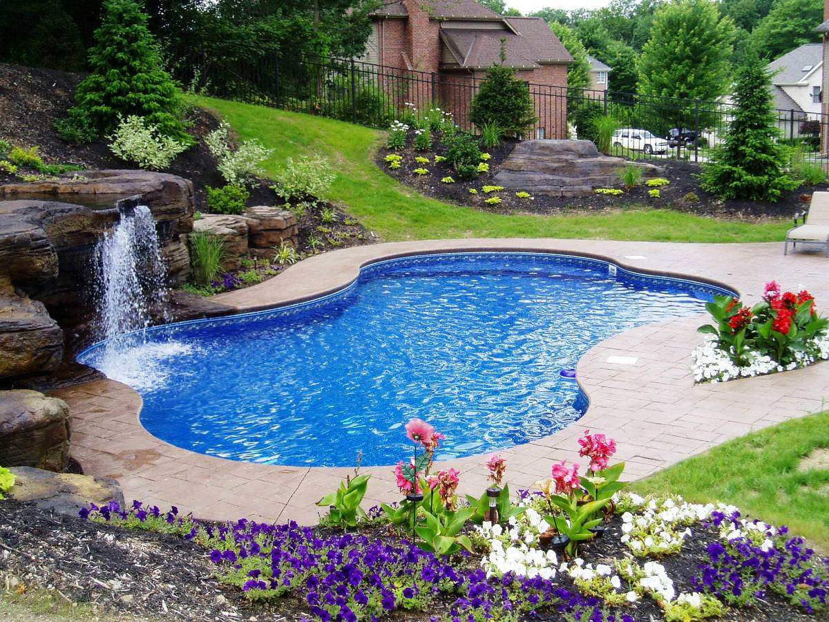 Best ideas about Inground Pool Ideas . Save or Pin 30 Great Inground Swimming Pools With Waterfall And Now.