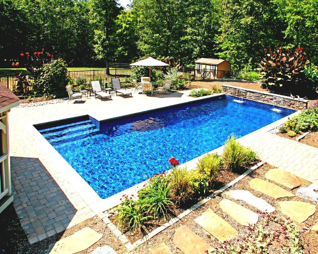 Best ideas about Inground Pool Ideas . Save or Pin Inground Swimming Pool Designs Ideas Amazing Waterfalls Now.