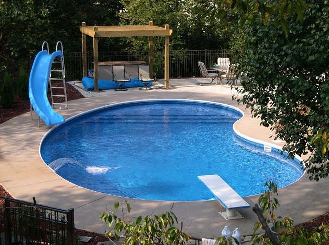 Best ideas about Inground Pool Ideas . Save or Pin Backyard inground pool designs large and beautiful Now.