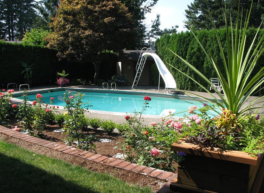 Best ideas about Inground Pool Ideas . Save or Pin Landscaping Ideas For Inground Swimming Pools Now.
