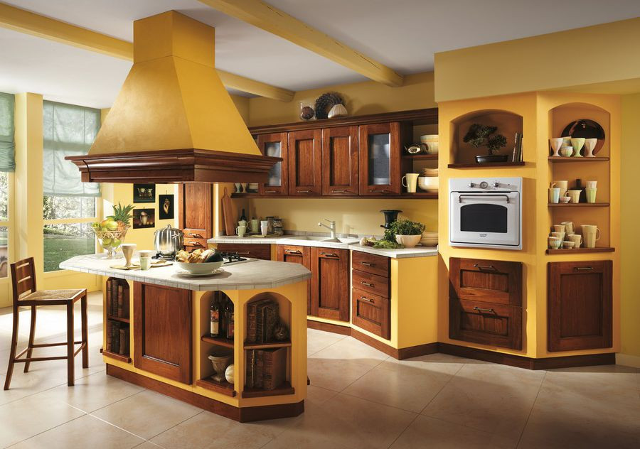 Best ideas about Italian Kitchen Decor . Save or Pin Italian kitchen orange and yellow colors in the interior Now.