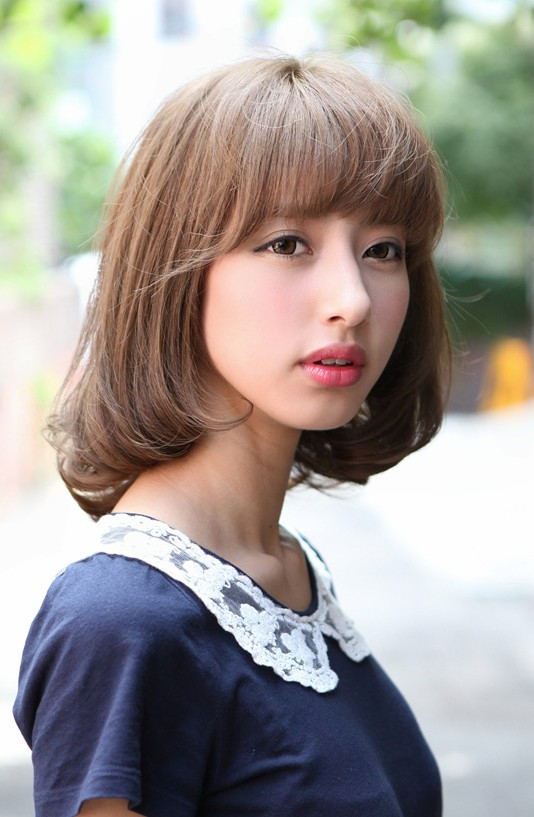 Best ideas about Japanese Hairstyles Female . Save or Pin Flirty Fringed Bob – Feminine & Curvy Hairstyles Weekly Now.