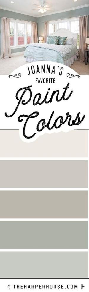"""Best ideas about Joanna Gaines Favorite Paint Colors . Save or Pin Paint Colors featured on HGTV show """"Fixer Upper Now."""