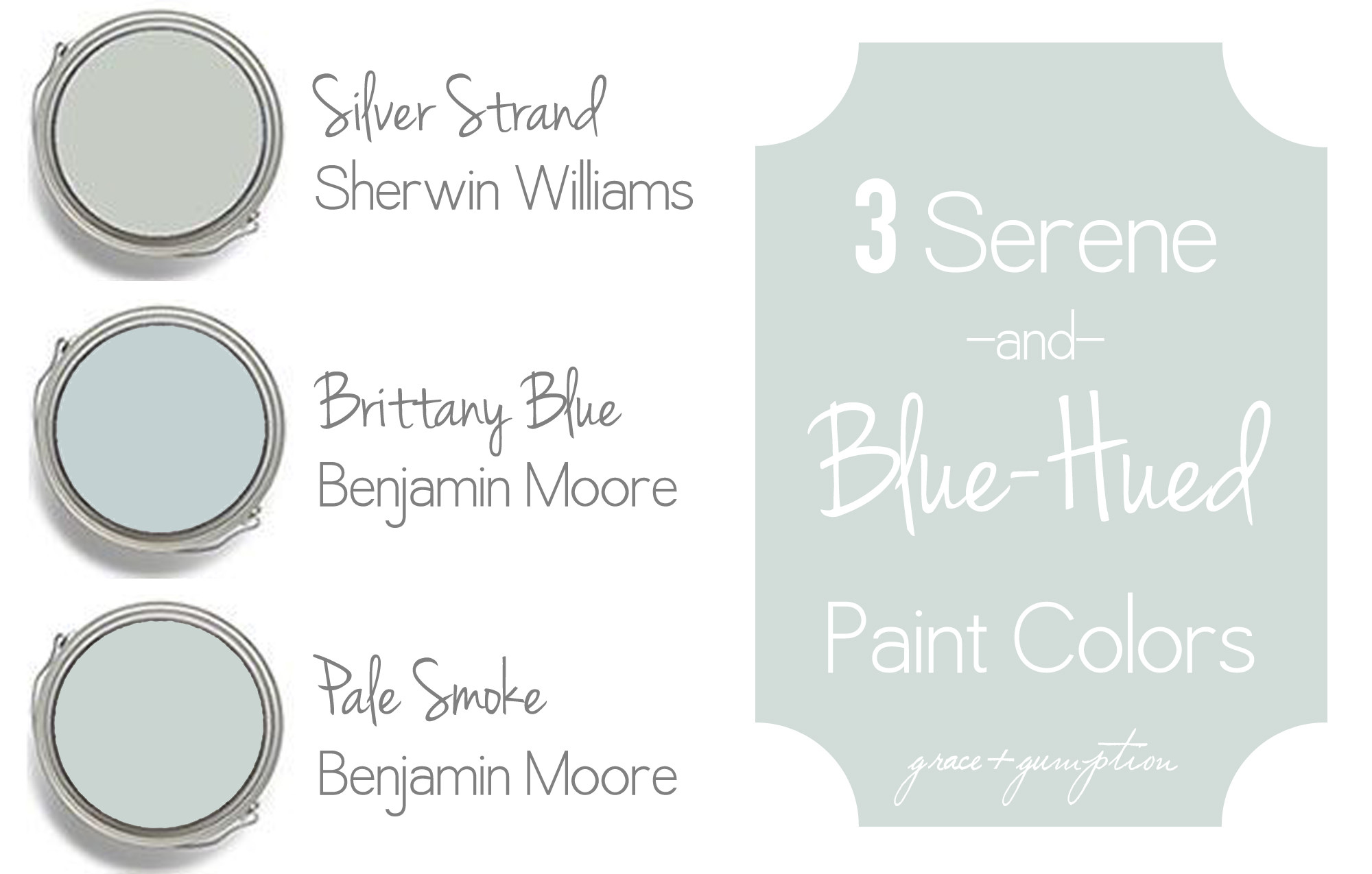 Best ideas about Joanna Gaines Favorite Paint Colors . Save or Pin Three Serene and Blue Hued Paint Colors Now.