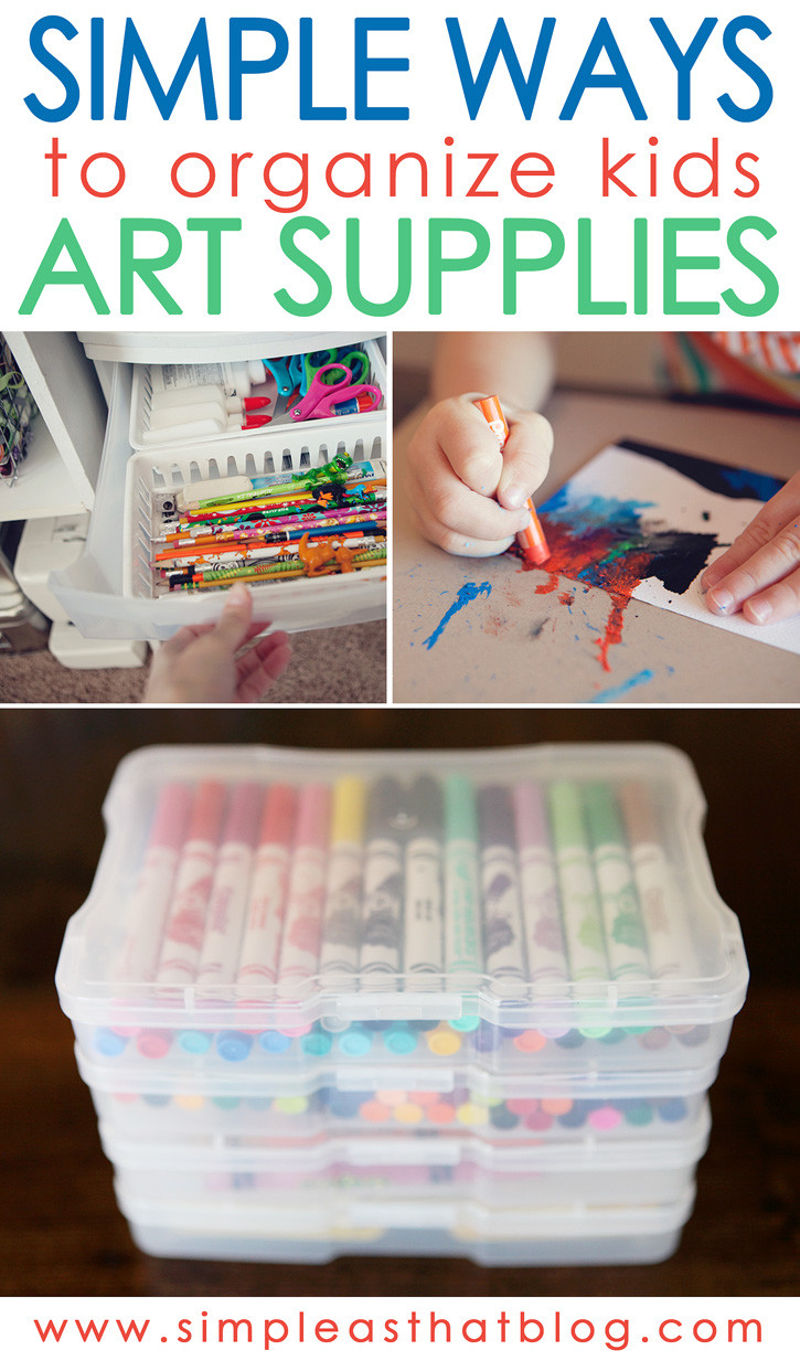 Best ideas about Kids Crafting Supplies . Save or Pin Simple Ways to Organize Kids Craft Supplies Now.
