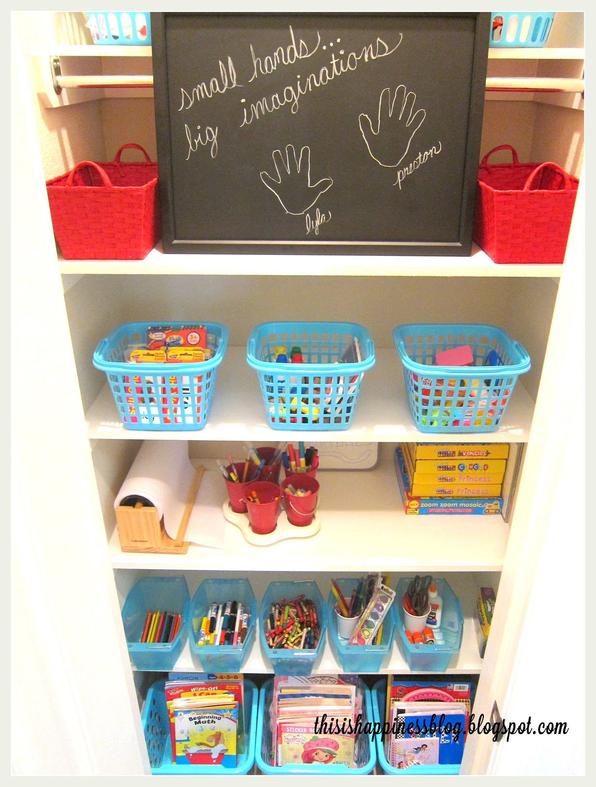 Best ideas about Kids Crafting Supplies . Save or Pin this is happiness organized kids arts and crafts closet Now.
