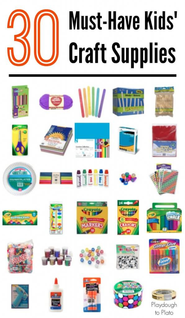 Best ideas about Kids Crafting Supplies . Save or Pin 30 Must Have Kids Craft Supplies Playdough To Plato Now.