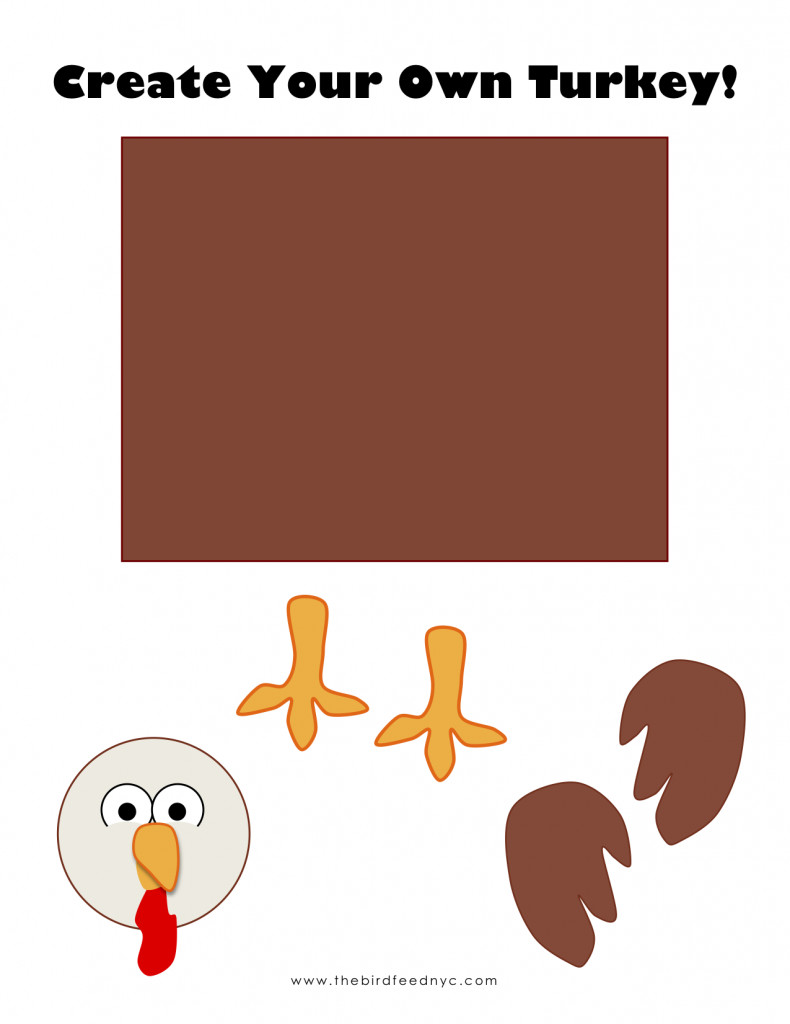 Best ideas about Kids Make Your Own . Save or Pin Printable Activity for Kids Create Your Own Turkey Now.