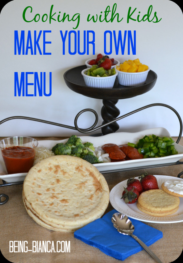 Best ideas about Kids Make Your Own . Save or Pin Cooking With Kids Make Your Own Menu Now.
