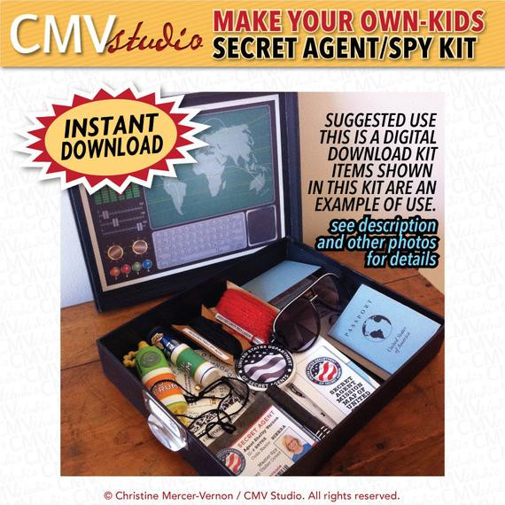 Best ideas about Kids Make Your Own . Save or Pin MAKE YOUR OWN Kids Secret Agent Spy Kit Digital Kit by Now.