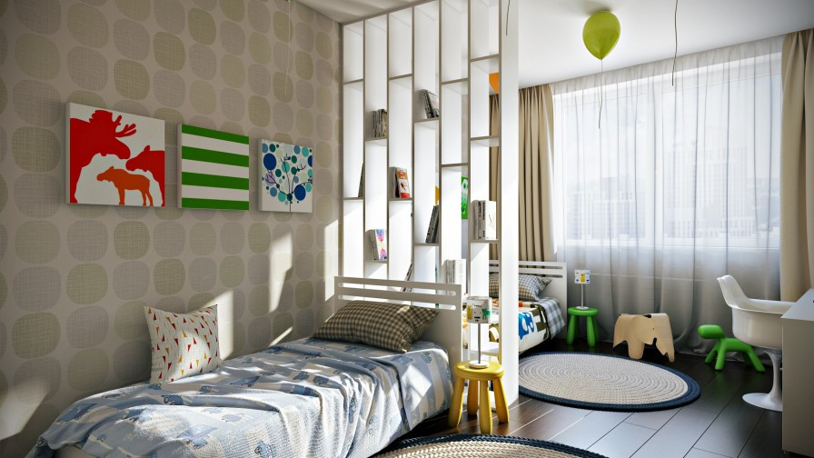 Best ideas about Kids Room Devider . Save or Pin Crisp and Colorful Kids Room Designs Now.