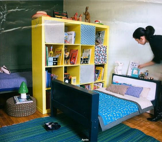 Best ideas about Kids Room Devider . Save or Pin expedit room divider i loved using expedit shelves as a Now.