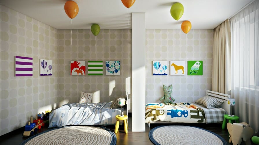Best ideas about Kids Room Devider . Save or Pin Sibling Spaces 3 Design Tips for Your Kids' d Room Now.