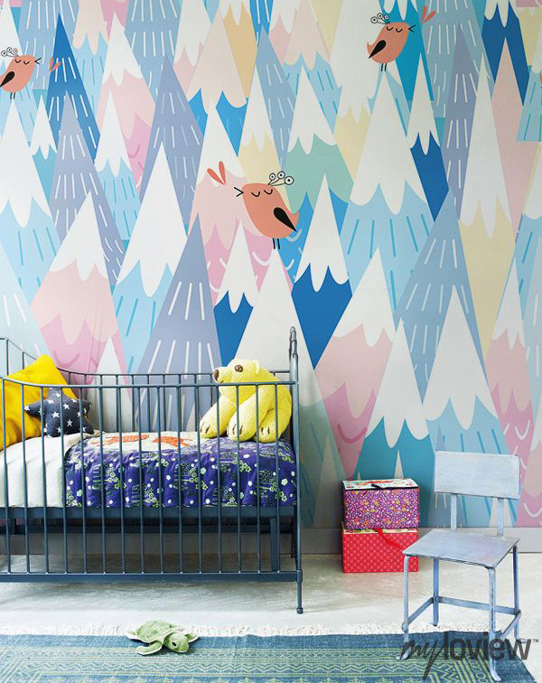Best ideas about Kids Room Wallpaper . Save or Pin 10 Cool Painted Wallpapers For Kids Rooms Now.