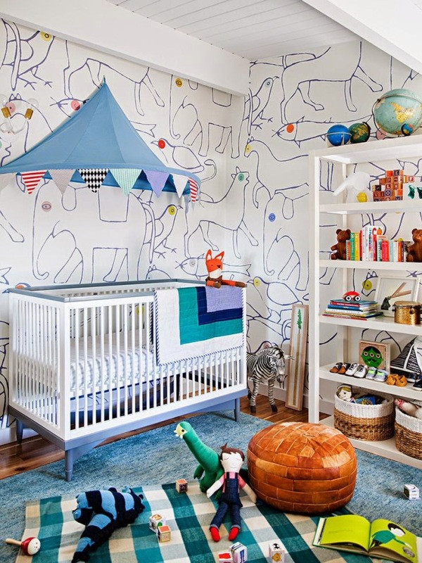 Best ideas about Kids Room Wallpaper . Save or Pin 41 Awesome Kids Rooms With Wallpapers Now.