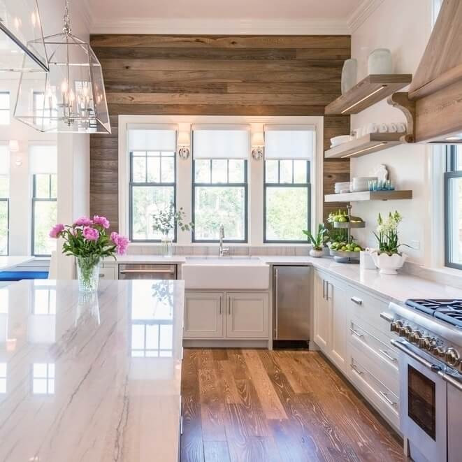Best ideas about Kitchen Accent Wall . Save or Pin Inspiring Kitchen Accent Wall Home Design 1014 Now.