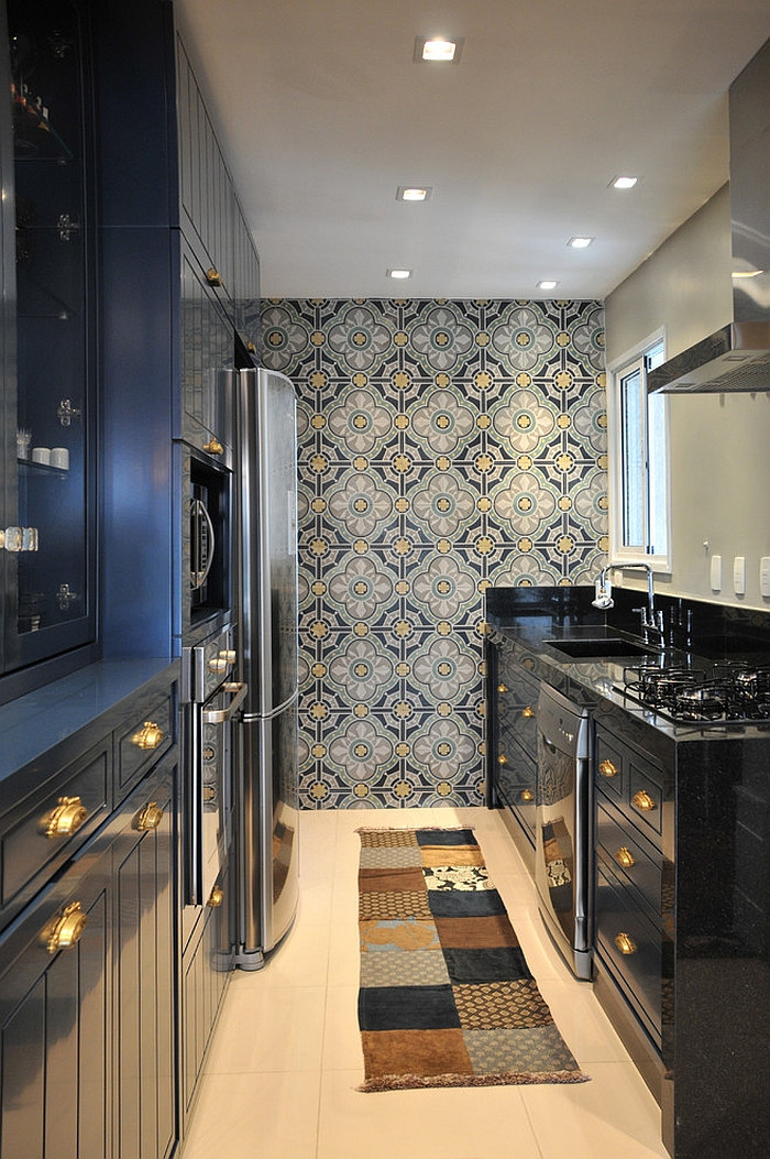 Best ideas about Kitchen Accent Wall . Save or Pin Kitchen Wallpaper Ideas Wall Decor That Sticks Now.