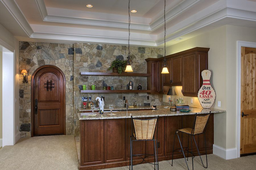 Best ideas about Kitchen Accent Wall . Save or Pin 30 Inventive Kitchens with Stone Walls Now.