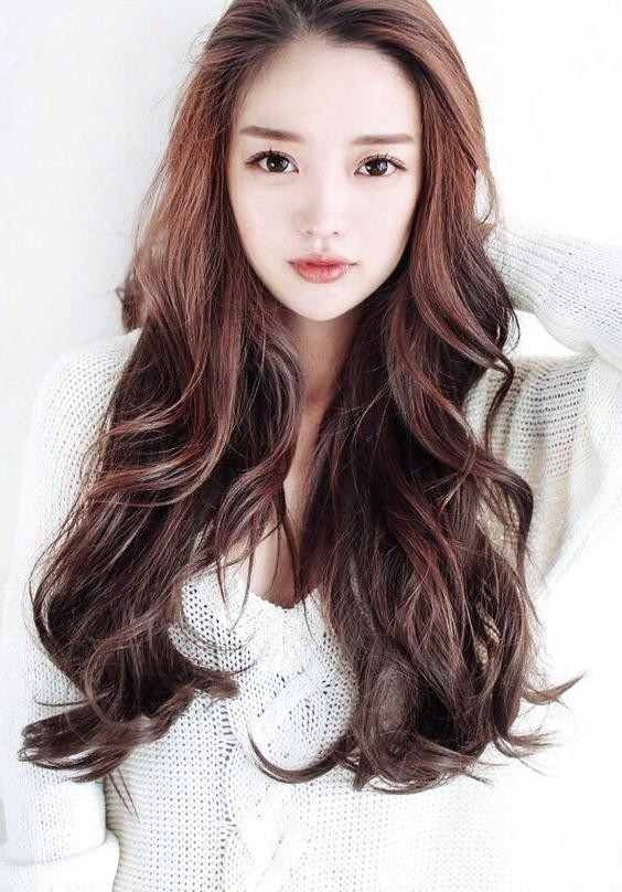 Best ideas about Korean Hairstyle Female . Save or Pin 2018 Latest Long Layered Hairstyles Korean Now.