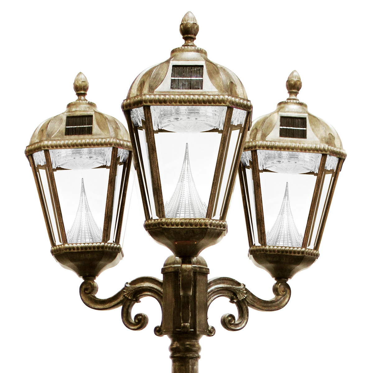 Best ideas about Lamp Post Lights . Save or Pin Royal Solar Lamp Series – Triple Lamp Post GS 98T Now.