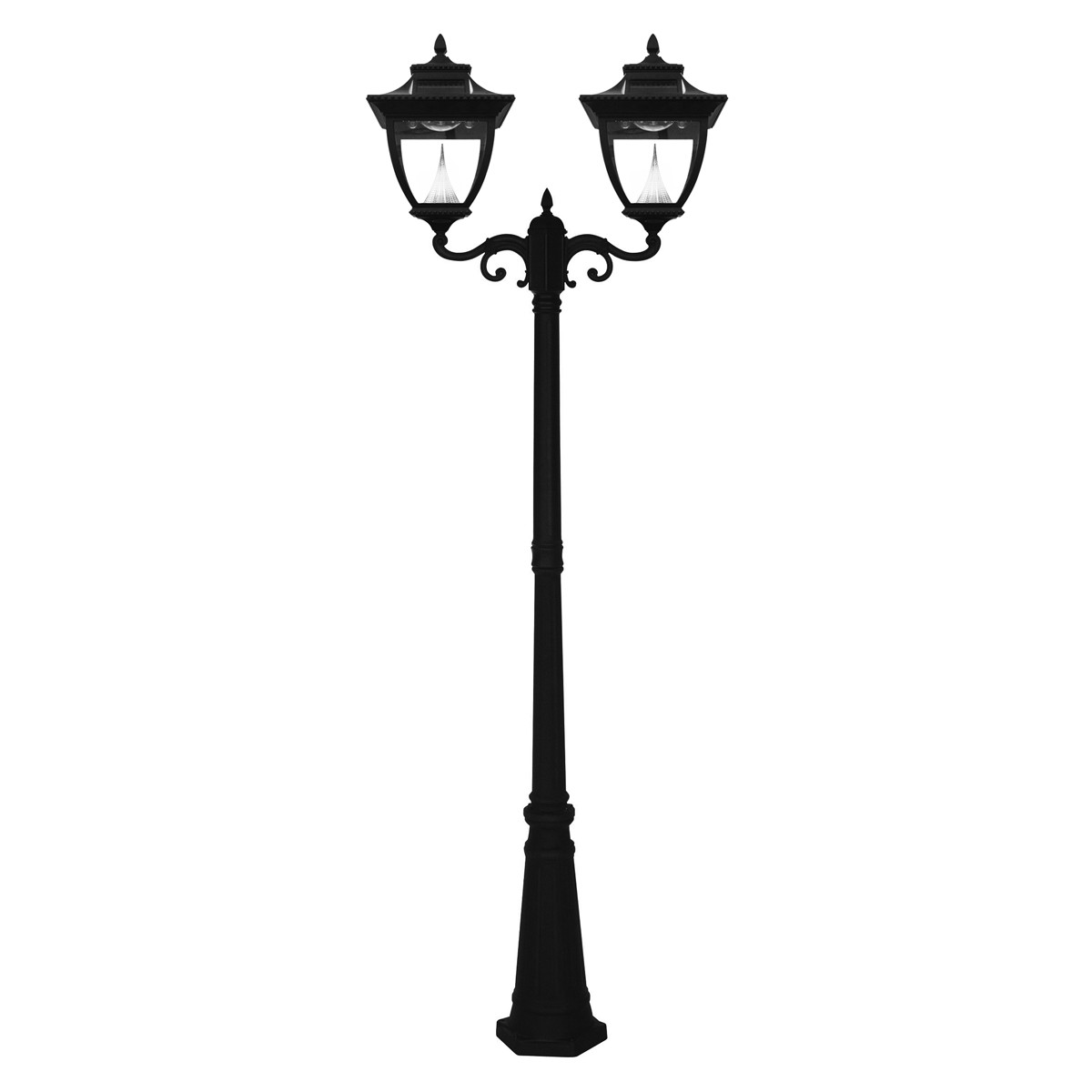 Best ideas about Lamp Post Lights . Save or Pin Pagoda Solar Lamp Series – Double Lamp Post GS 104D Now.