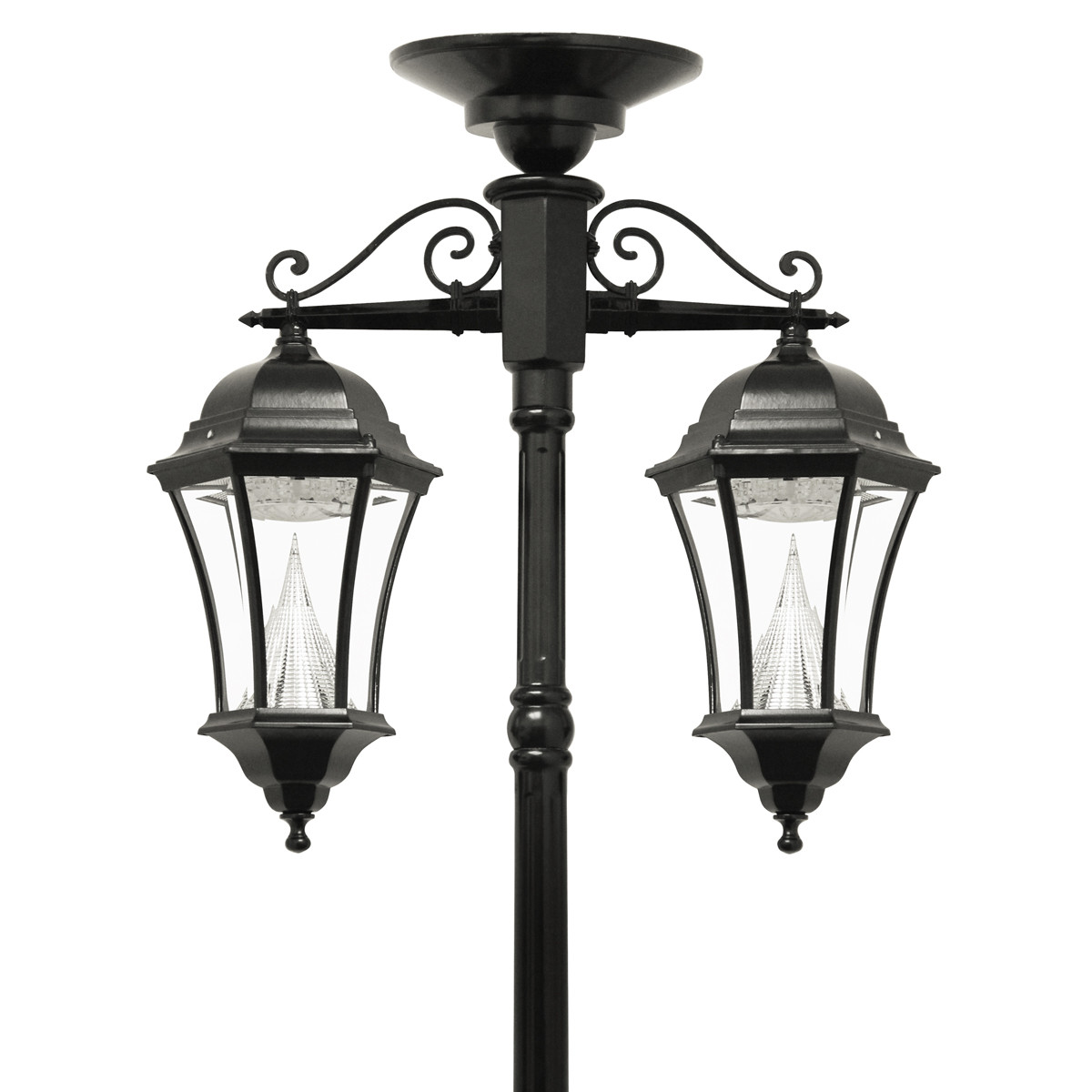 Best ideas about Lamp Post Lights . Save or Pin Victorian Solar Lamp Series – Double Downward Hanging Lamp Now.