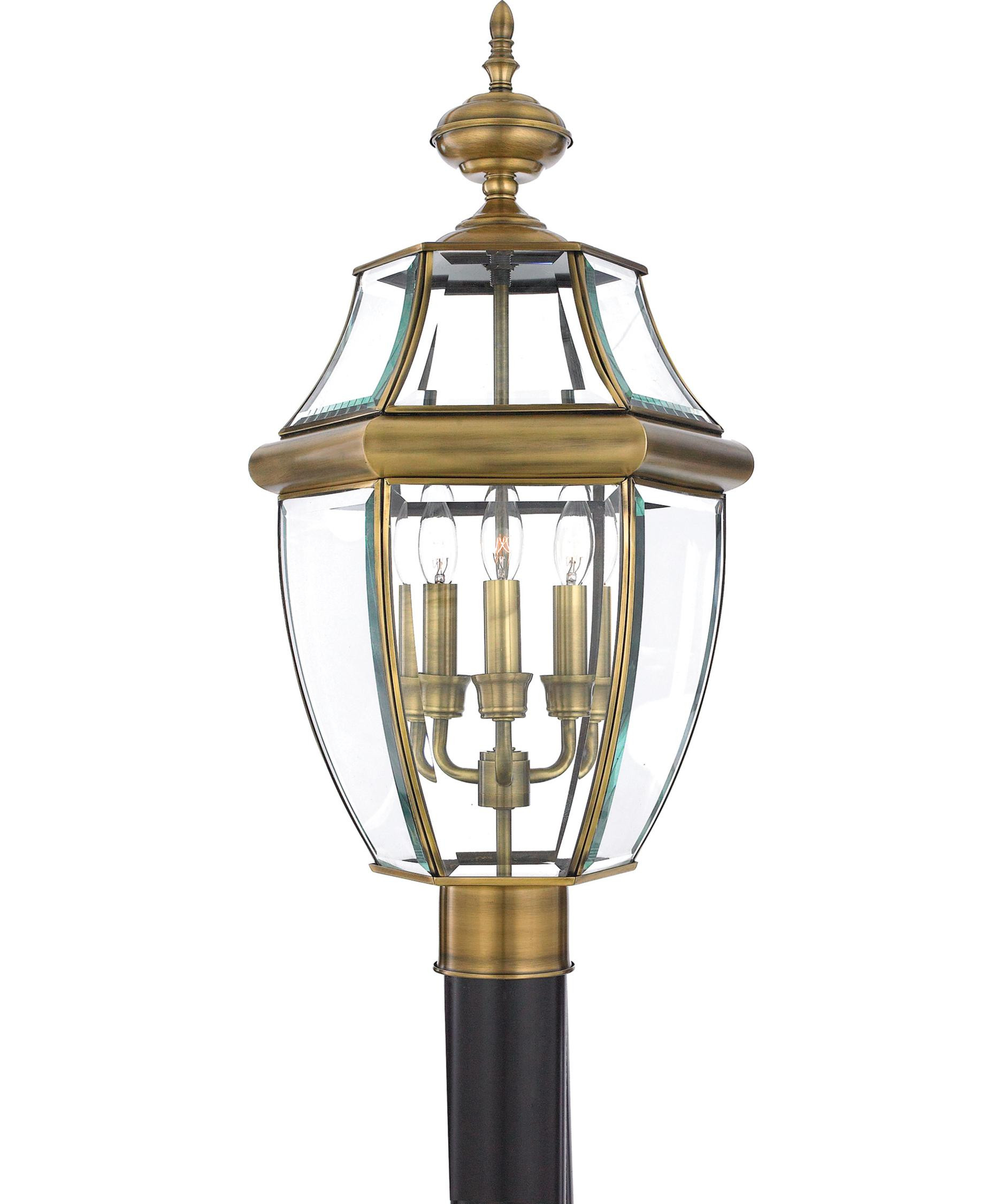 Best ideas about Lamp Post Lights . Save or Pin Quoizel Newbury 3 Light Outdoor Post Lamp Now.