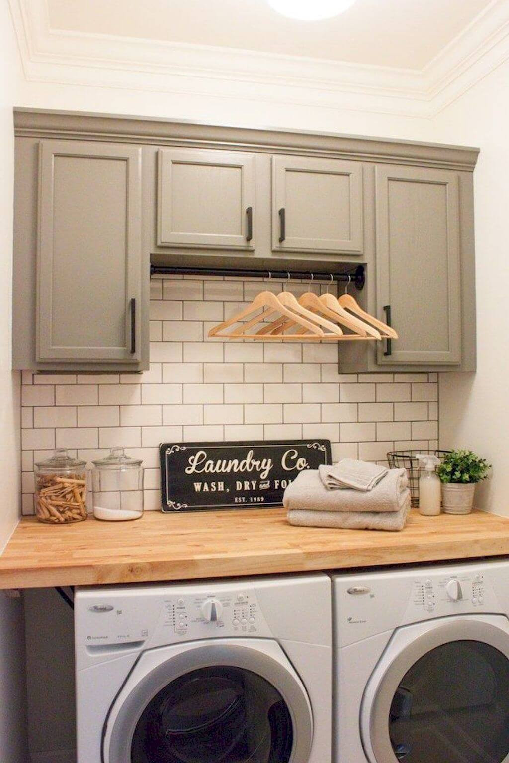 Best ideas about Laundry Room Accessories . Save or Pin 34 Best Farmhouse Laundry Room Decor Ideas and Designs for Now.