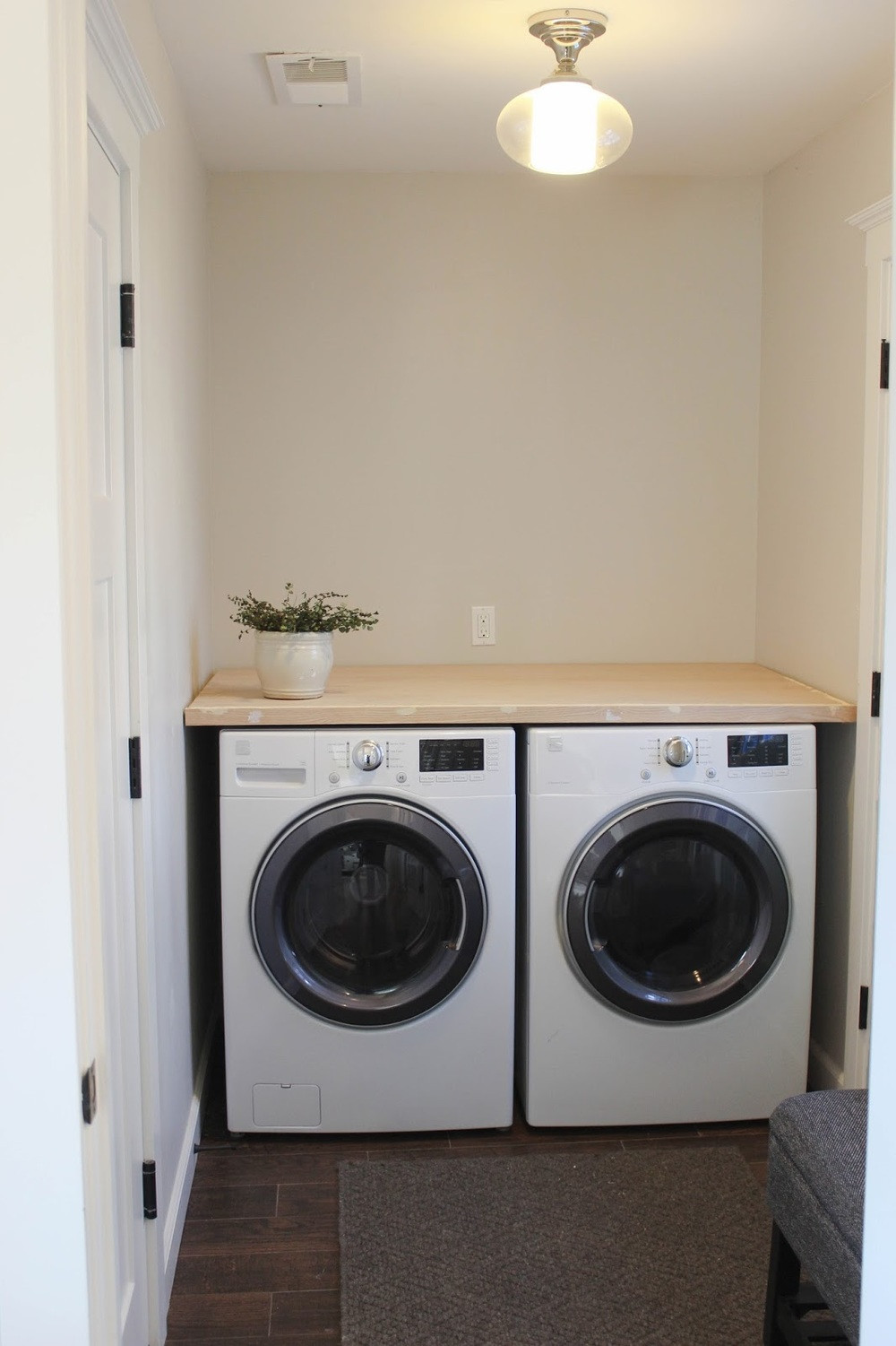 Best ideas about Laundry Room Countertop . Save or Pin DIY Laundry Room Countertop — Katrina Blair Now.